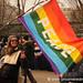 Woman Waving Peace Flag - Washington DC, USA