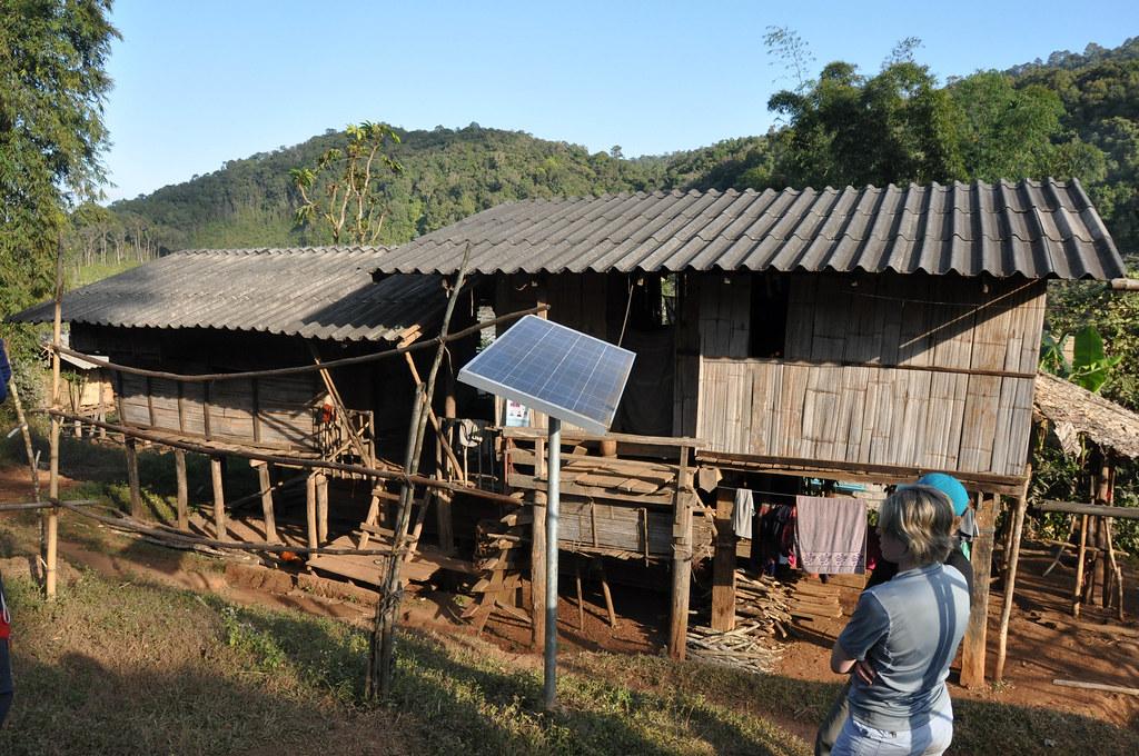 New solar panels in Thai village