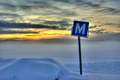 winter sunset cloud snow sign norway fog landscape heavy hdr sande vestfold photomatix bildekritikk
