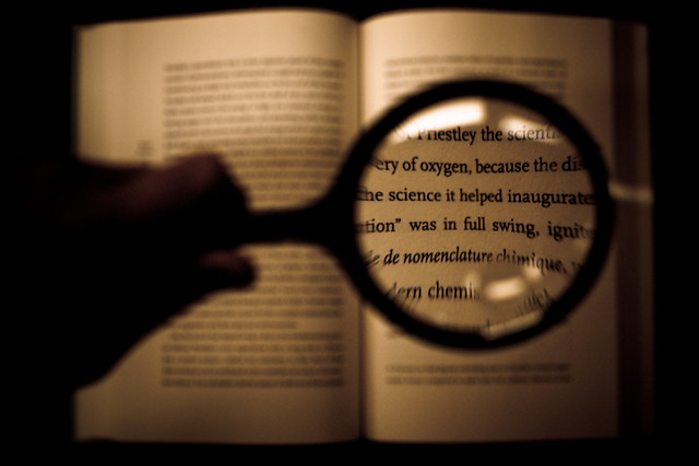 Magnifying Glass Text