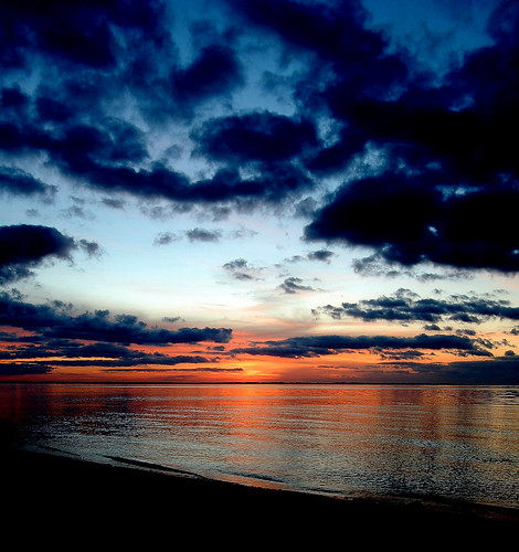 beach water clouds sunrise pensacola