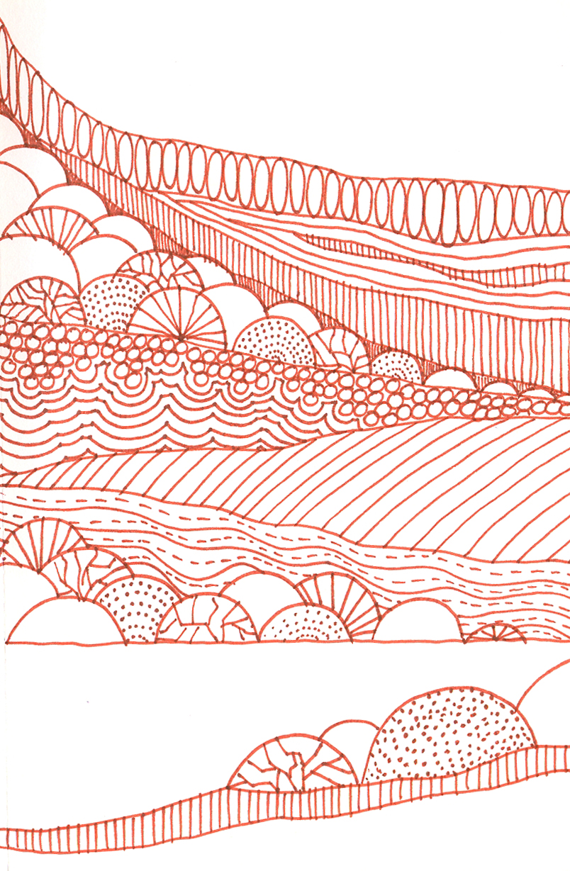 Rolling Hills Drawing | Wallpapers Gallery