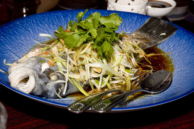 Steamed whole fish flickr photo sharing for Steamed whole fish