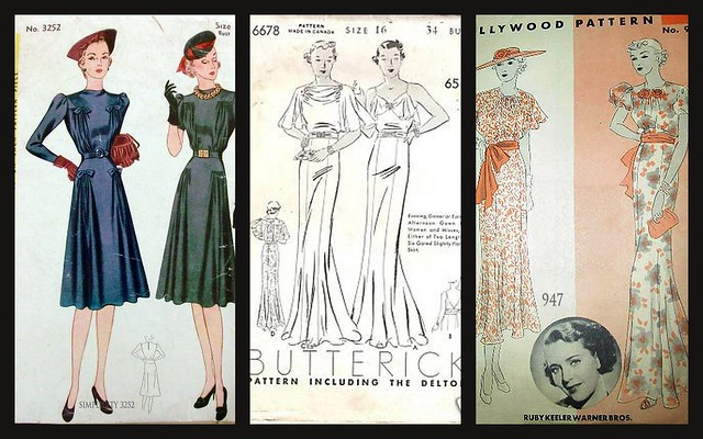 Your Pattern Shop, vintage sewing patterns for sale,1930s, 1940s