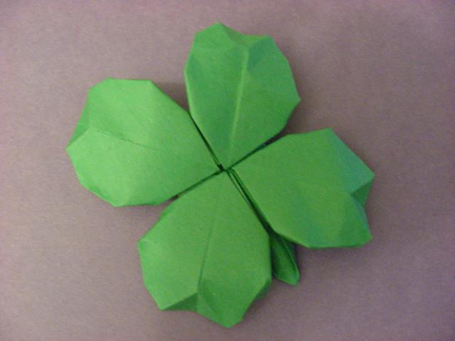 origami shamrock design by gerwin sturm flickr photo