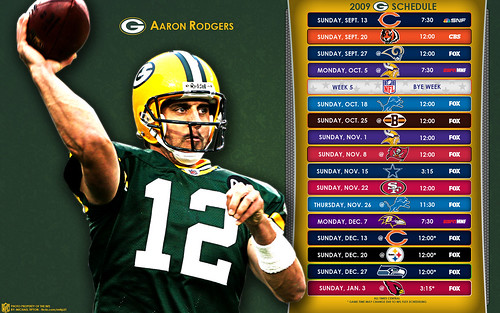 2009 Green Bay Packers NFL Schedule Wallpaper