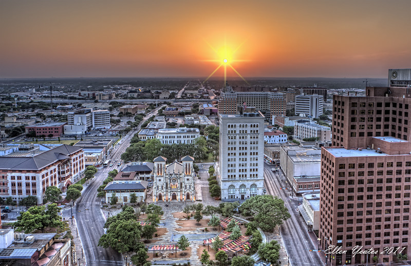 San Antonio Skyline Sunset