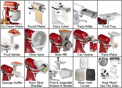 Cyberlog New Kitchenaid Kgssamixer Attachment Pack Grinder Slicer Shredder