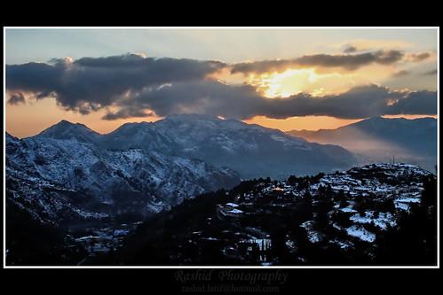 winter pakistan sunset sun snow mountains nature colors landscape rashid thandiani abbotabad northernareasofpakistan rashid4u rashidphotography