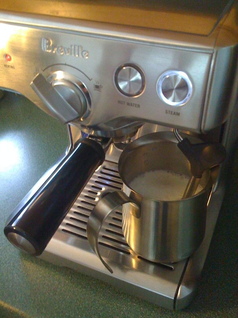 making cappuccino   - Camera phone upload powered by ShoZu