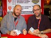 Jason Aaron & Brian Wood with the Ghost Card by excalipoor