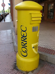 yellow, post box,