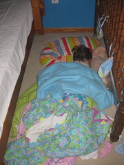 Lexi Asleep on the Floor