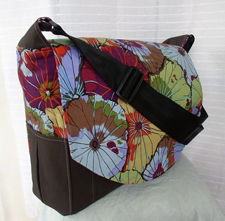 Pansy Purple Messenger/Diaper Bag