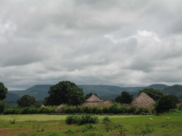 Typical African villages in Guinea-Conakry