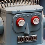 Blue robot, head