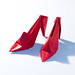 Origami High-Heel Shoes