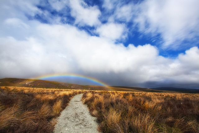 'No Pot of Gold at the end of this Rainbow', New Zealand, Tongariro National Park