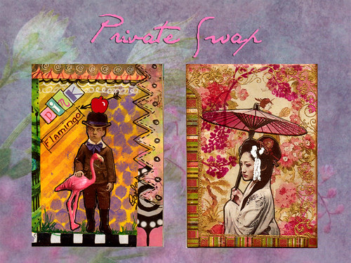 Zetti Pink Flamingo and Geisha