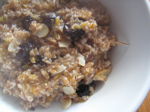 Cracked wheat for breakfast