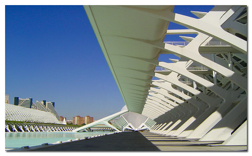 Panoramic perspective City of the Arts and the Sciences of Valencia, Spain, by jmhdezhdez