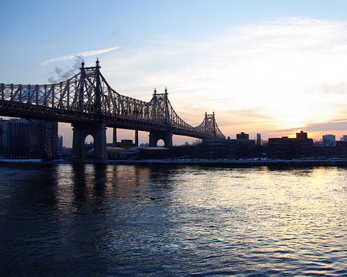 nyc morning bridge water sunrise pentax eastriver jjp 59thstreetbridge k200d