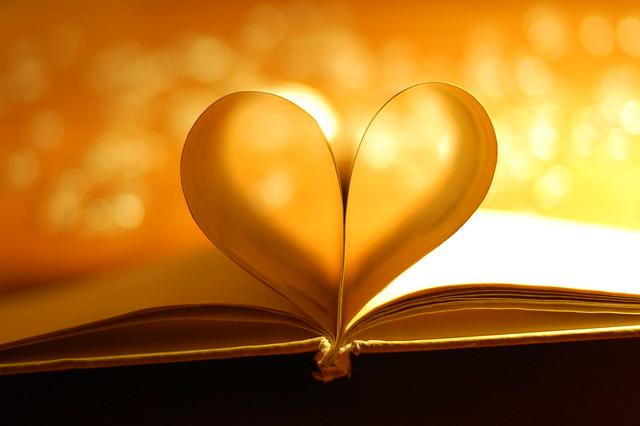 Book Heart Bokeh