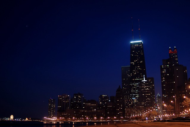 (sky18) John Hancock with Skyline, Chicago, 2007