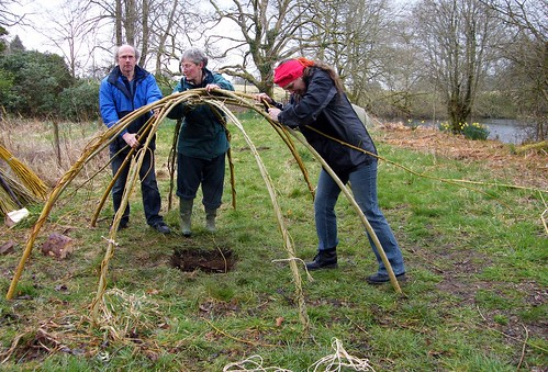 Building the sweat lodge