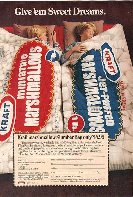 1980 Kraft Marshmallow Magazine Ad