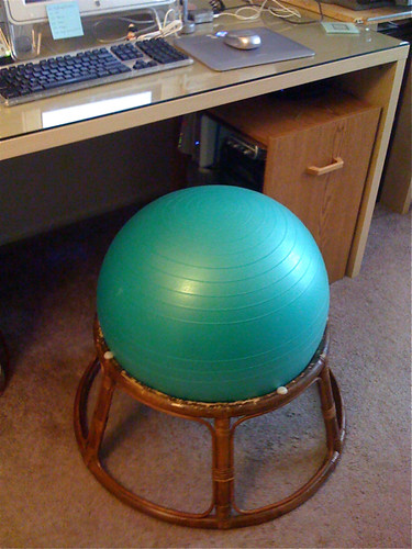 Balance Ball Chair Base cheap ball chair | Flickr - Photo Sharing!