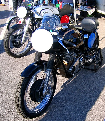AJS & NORTON RACERS. CLASSIC MOTORCYCLES.