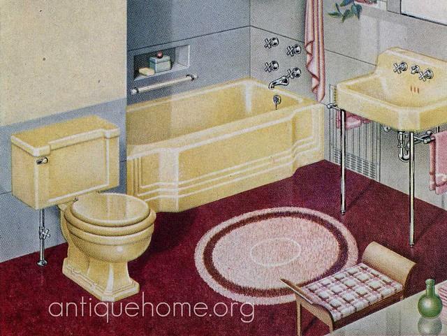 1940 Yellow Bathroom Fixtures Flickr Photo Sharing