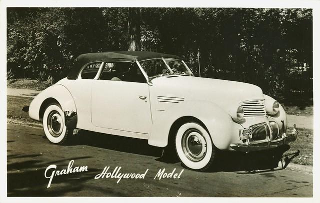 1940 Graham Hollywood Convertible Postcard