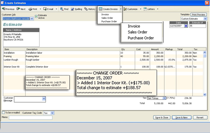 quickbooks sales order template - quickbooks for contractors adding change orders on