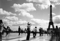 Taking pictures in Paris