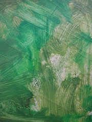 Green Paint Brush Strokes on Paper