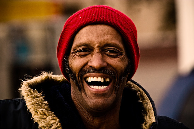 """I'm the happiest homeless man alive!"" 