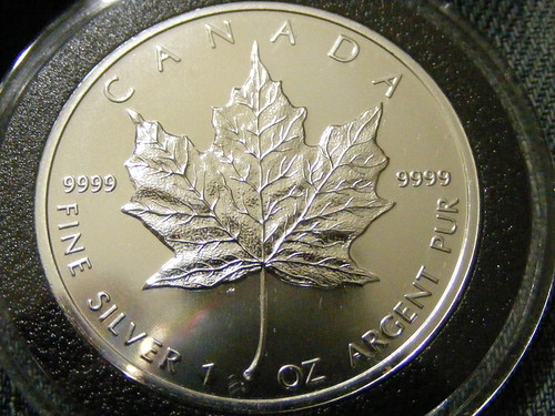 The Canadian silver Maple leaf coin is one of the most popular bullion coins.