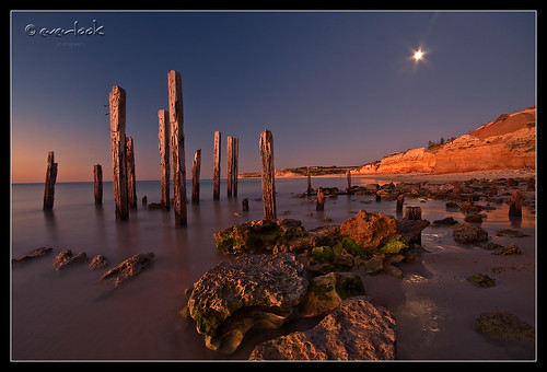 longexposure sunset cliff moon seascape beach nature rock night port coast pier moss jetty south ruin australia shore aldinga willunga everlook platinumphoto auselite theperfectphotographer goldstaraward everlookphotography