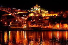 Porto April 2009 - the River Douro at night 2