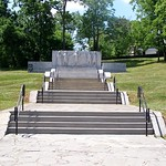 "Stairs to ""First Permanent Settlement of the West"" Monument"
