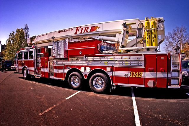 Big Fire Truck | The fire trucks are on display at the ... House