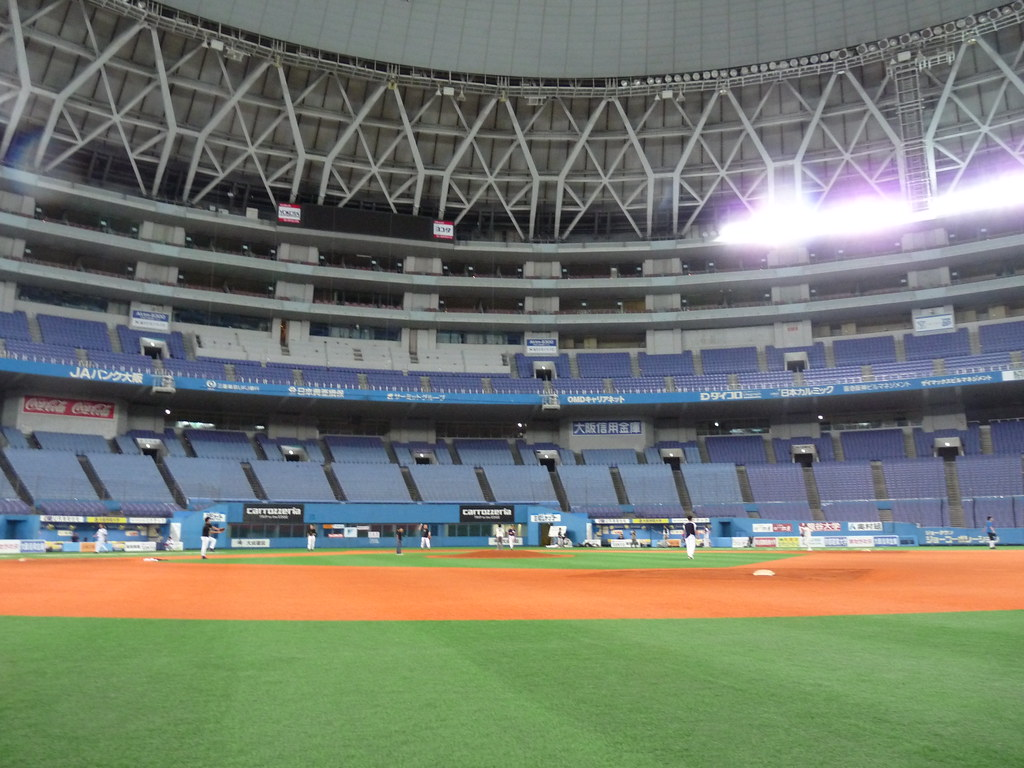 Midnight amateur baseball in Osaka-Dome 2009