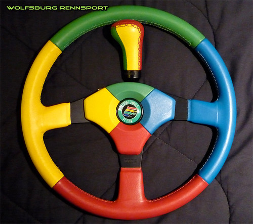 Momo benetton f1 wheel reconditioned flickr photo for Benetton 4 wheel steering