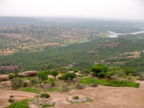 india view plumeria hill granite aussicht karnataka indien dschungel savandurga hügel ind granit manjunath templetree