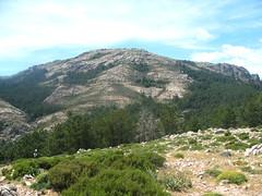 Monte Calva depuis les bergeries de Luviu