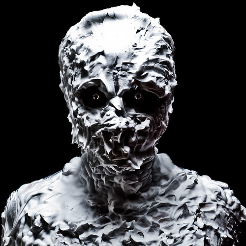 Monster - (Self-potrait in shaving cream)