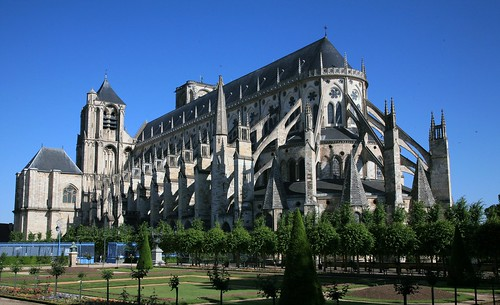 Bourges Cathedral from the Bishop's Garden
