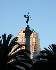 San Francisco Statue of woman with pitchfork